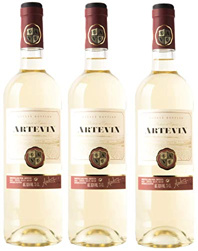 Artevin vino Blanco - Caja 3 botellas x 750 ml (Caja 3 botellas)