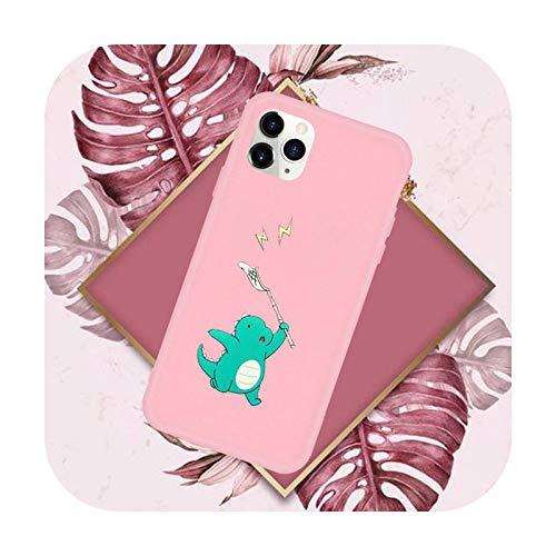 Funda creativa a prueba de golpes lindo teléfono rosa caramelo color para iPhone 11 12 Mini pro XS MAX 8 7 6 6S Plus X SE 2020 XR-a10-7plus u 8plus