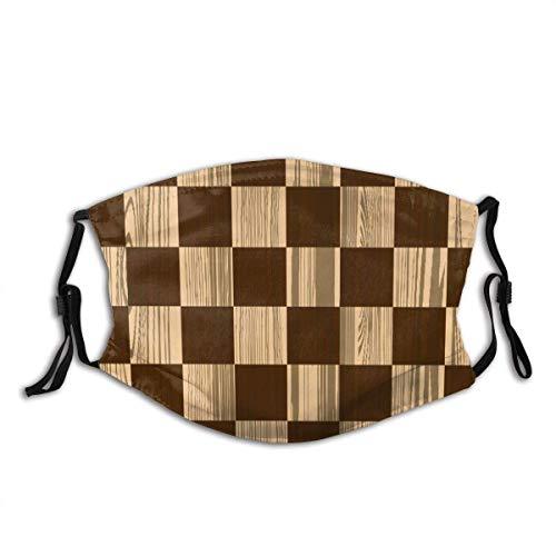 Leeres Schachbrett Holz Scheint Mosaik Textur Bild Schachspiel Hobby Thema Gesichtsdekorationen FA-Ce Co-Ver FA-Ce Mas-Ke Mit Filter