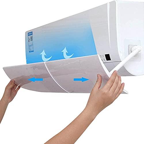 DirkFigge Deflector de aire acondicionado, cubre el viento, para aire acondicionado de pared, antidirecto, blowing frío/caliente, para casa/oficina, ancianos, bebés, mujeres embarazadas