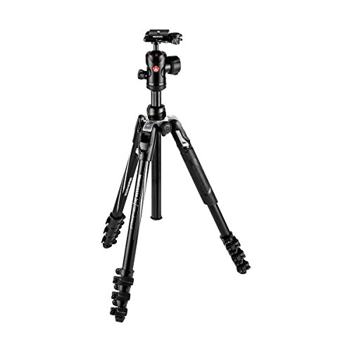 Manfrotto Befree Advanced Tripod with Lever Closure, Travel Tripod Kit with Ball Head, Portable and Compact, Aluminium Tripod for DSLR Reflex and Mirrorless Cameras, Camera Accessories