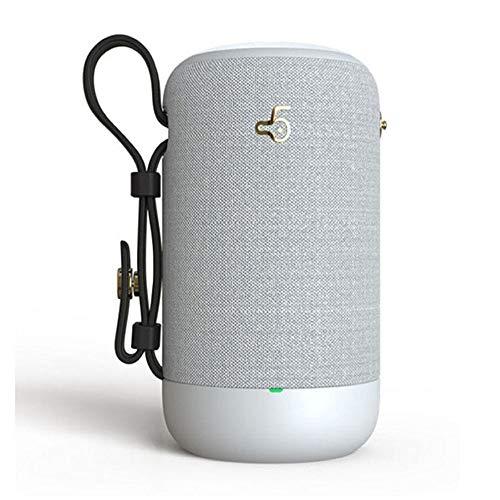 KUCE Altavoz Bluetooth Portátil, Altavoz Inalámbrico Bluetooth 5.0 Resistente al Agua, Sonido Envolvente HD 360 y Graves Estéreo Intensos, Tiempo de Reproducción de 8 h, para Viajes, al Aire Libre