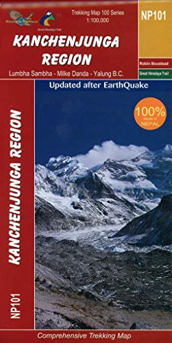 Kanchenjunga 1:100 000 NP101: Lumbha Sambha - Milke Danda - Yalung B.C.  Himalaya Map House Map