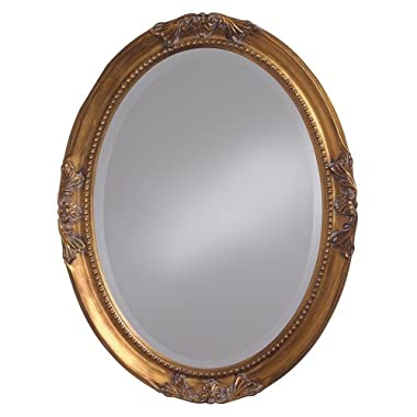 Howard Elliott 4014 Queen Ann Mirror, Oval, Antique Gold Leaf
