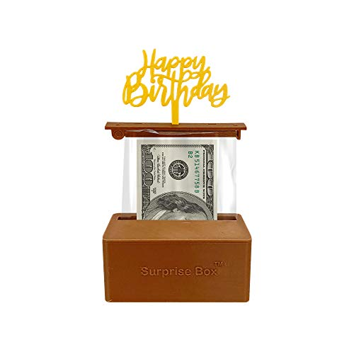 The Money Cake - Cake Money Pull Out Kit includes special box, 1 plastic roll (50 connected pockets), Happy Birthday Topper
