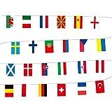 Kining Juego De 24 Banderas De Países Diferentes, Banderas Internacionales del Mundo, Decoración De Fiesta, para Decoración De Fiesta De Bar,Decoración para Gran Apertura,Varios Nación