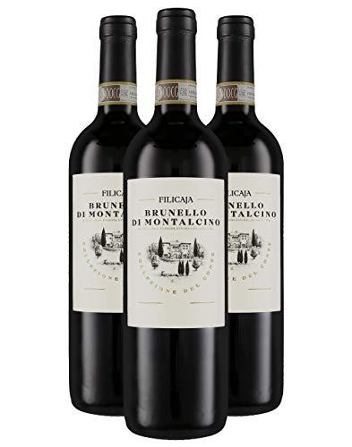 Brunello di Montalcino DOCG 2014 - Villa da Filicaja - 3 x 0,75 l. - Italienischer Wein - Toskana -Italien