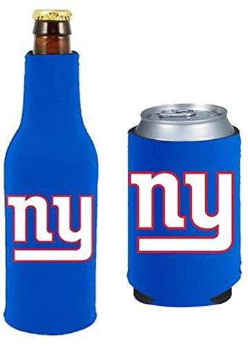NFL Football Can & Bottle Holder Insulator Beverage Cooler (New York Giants)