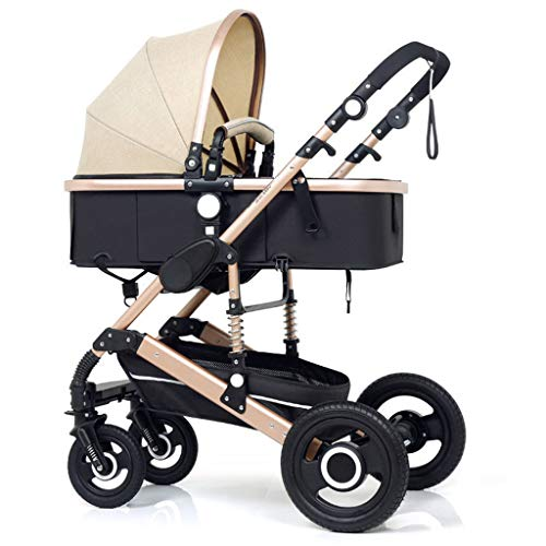 Review OLMITA Luxury Baby Stroller 3 in 1 with Car Seat High Landscape Pram for Newborns Travel Syst...