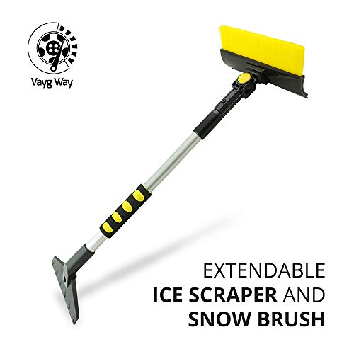 Why Choose VaygWay Ice Scraper Snow Brush – Car Ice Scraper with Brush – Extendable 23'' to ...