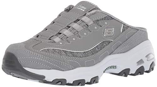 Skechers Sport D'Lites Schlupfschuhe für Damen, Grau (Grau/Weiß), 40 EU