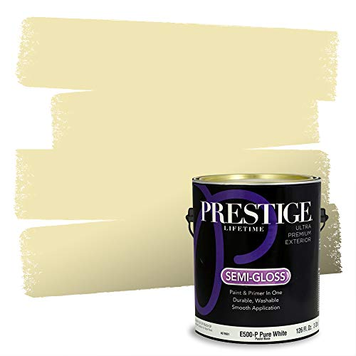 Prestige Paints Exterior Paint and Primer In One, 1-Gallon, Semi-Gloss, Comparable Match of Sherwin Williams* Moonraker*