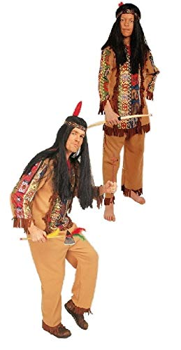 narrenkiste K31250654-116-128 - Disfraz infantil de indgena (talla 116-128), color marrn