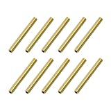 uxcell Brass Round Tube, 3mm OD 0.5mm Wall Thickness 30mm Length Seamless Pipe Tubing for DIY Crafts 10 Pcs