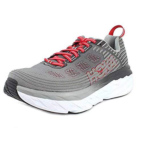 HOKA ONE ONE Men's Bondi 6 Running Shoe Alloy/Steel Grey Size 10.5 M US