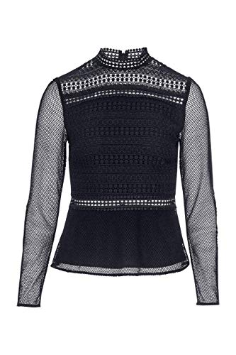Tigha Arabella Damen Bluse, Farbe:Schwarz, Größe:L