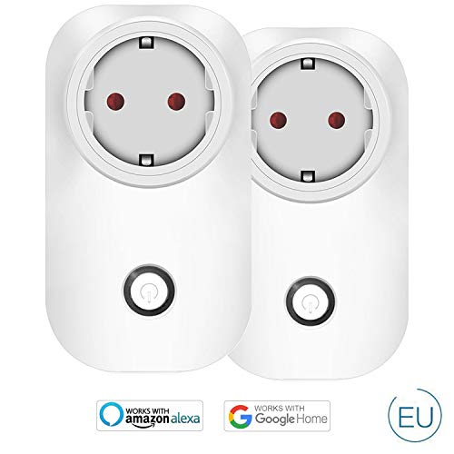 Wlan Outlet Alexa, Presa Smart WiFi WiFi Joy Spot, compatibile con Alexa Echo Dot/Plus, Google Home e IFTTT, Controllo tempo controllo app per IOS e Android per telecomando Home Office Switch