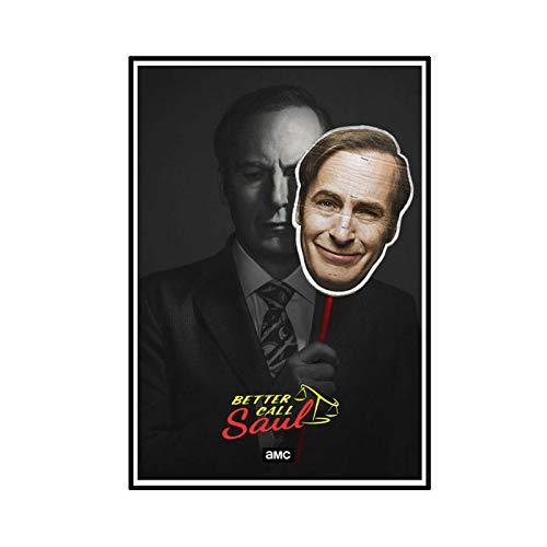 ADNHWAN Better Call Saul Season 4 TV Poster and Prints Wall Art Canvas Painting Canvas Prints para la decoración de la Pared del hogar -50X70cm Sin Marco 1 PCS