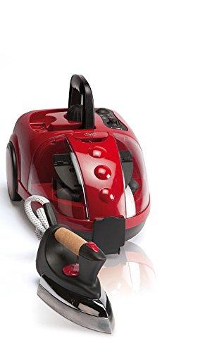 JRD VAPORETA Vapor Multi V-Clean 1500W Con 16 Accesorios DE Limpieza Con Plancha 800W, Color Rojo, Red, 1