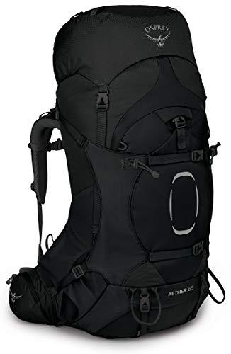 Osprey Aether 65 Mochila de Hombre para excursiones, Negro (Black), Talla L/XL
