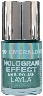 Layla Cosméticos Esmalte de Uñas Efecto Holograma Tono Esmeralda Divino - 10 ml