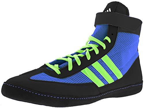 adidas Combat Speed 4 Wrestling Shoes - Bahia Blue/Lime Green/Black - 13