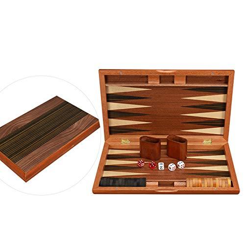 Pevfeciy Backgammon Gross Holz, Holz Backgammon 38 cm,Familie Spiel, Geschenk großeltern, Geschenke Eltern, Geschenk Ideen, Spiele für 2 Personen,15 Zoll