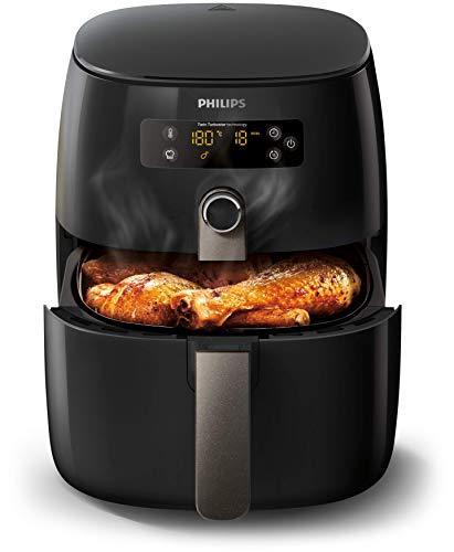Philips HD9741/10 Airfryer Heißluftfritteuse ( 1425 W, ohne Öl, 0,8 kg, für 2-3 Personen, digitales Display) schwarz