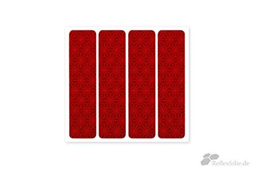 Reflexstreifen 4 Reflektierende Aufkleber Reflektor Sticker Orafol ORALITE VC212 (rot)