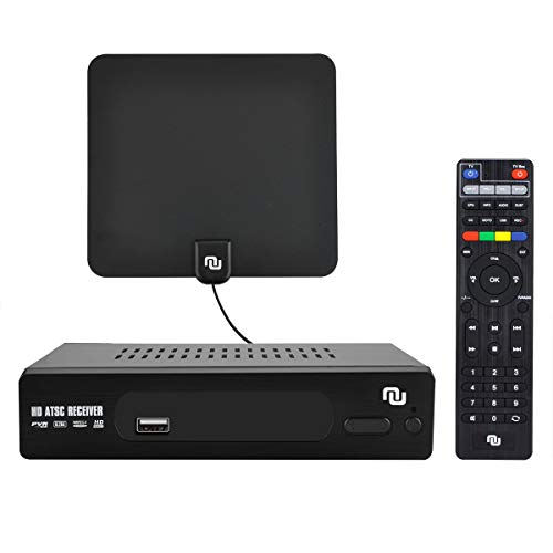 Cheapest Prices! NUNET ATSC HD Digital Converter Box w/ 1080p HDMI Output, 35 Miles Over The Air Ant...