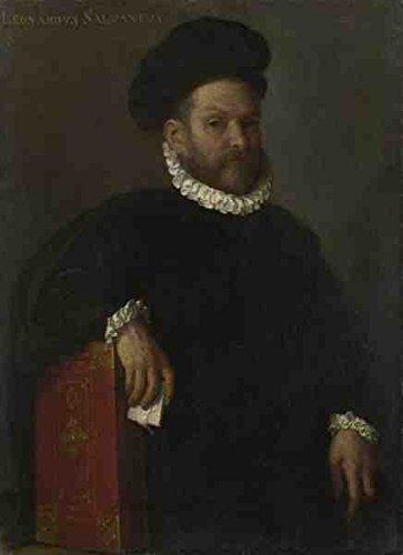 Giovanni Battista Moroni Portrait Of Leonardo Salvagno A4 10x8 Photo Print Poster