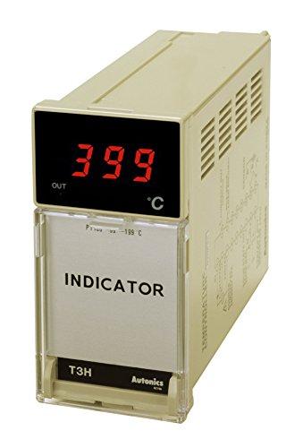 Autonics T3HI-N3NJ4C Temperature Indicator, W48xH96mm, J Thermocouple Input, 399 C, 110 & 220 VAC