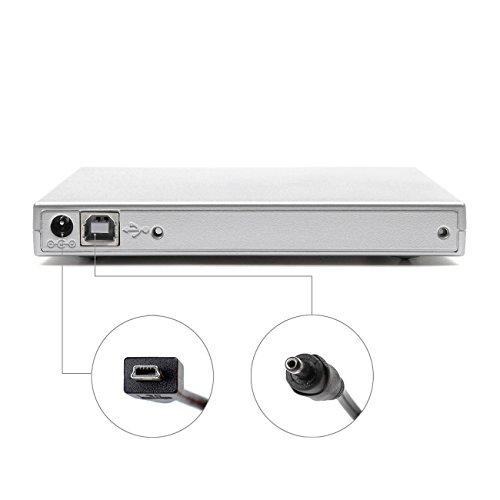 SALCAR Externes DVD Combo CD-RW Laufwerk USB 2.0 Tragbar Slim DVD Read CD Write Notebook für Windows 2000/XP/Vista/Linux/7/8/10 & Mac OS System für iMac MacBook Dell Acer Asus usw,Weiß