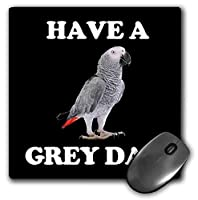 3dRose Mouse Pad Portrait of African Grey Parrot Have A Grey Day - 8 by 8-Inches (mp_296578_1) [並行輸入品]