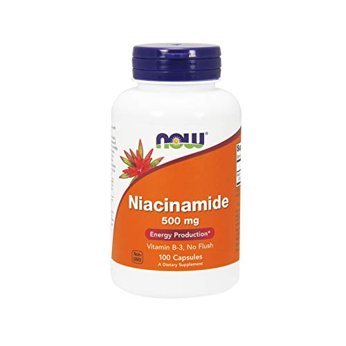 Now Foods, Niacinamide (Vitamin B3), Flush-frei, 500mg, 100 Kapseln