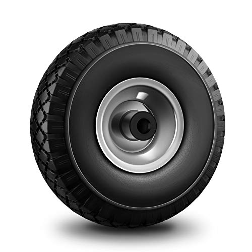 Forever Speed Schubkarrenrad Vollgummi Schubkarren Reifen Max.100kg 3.00-4 Schwarz 20mm