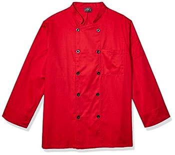 Chef Code Men s Chef Coat Red XXX-Large
