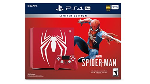 PlayStation 4 Pro 1TB Limited Edition Console - Marvel's Spider-Man Bundle [Discontinued]
