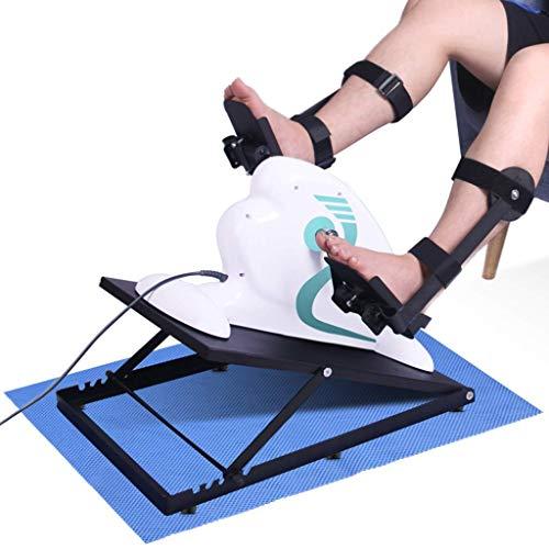 Ejercitador de Pedal eléctrico - Entrenador de rehabilitación de Bicicleta portátil Equipo de Ejercicios de rehabilitación Activa y pasiva, para Miembros Superiores e Inferiores con 12 velocidades AJ