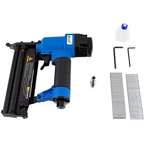 Bituxx Grapadora de aire comprimido con grapas y pistola de clavos, pistola de clavos