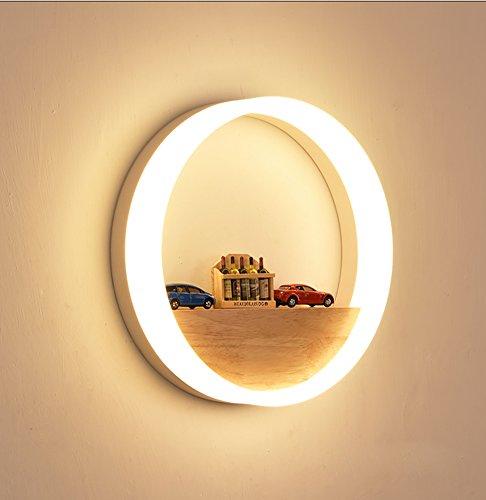 NBLYL 12 Watt LED wandleuchte massivholz wandleuchte einfache moderne wandleuchte warmes licht für Living Raum Arbeitszimmer Schlafzimmer Wohnzimmer(einschließlich Lichtquelle)