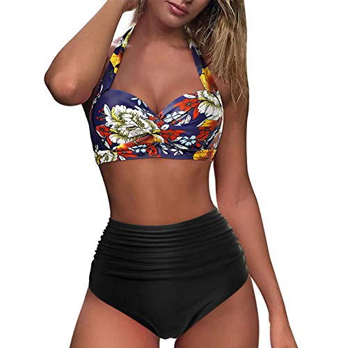 Maillot de Bain Femme 2 Pieces Sexy Taille Haute Amincissant Brésilien Bikini Push Up Maillots Fille Bresilien...