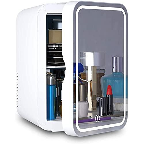 AMZYY Mini Refrigerador Compacto de 8 litros, Portátil, para Maquillaje, Cuidado de La Piel, con Panel de Control de Temperatura Mejorado para Automóviles, Casas, Oficinas, y Dormitorios