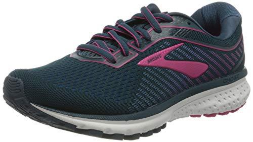 Brooks Women's Ghost 12 Running Shoes, Majolica Blue Beetroot, 6 UK (39 EU)