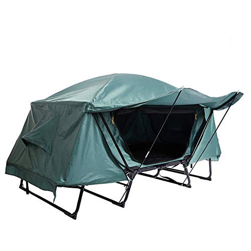 ZXGQF Tent Cot Elevated Camping Tent, Hiking Bed Awning Tent Waterproof Anti-UV Protection, Sturdy Steel Frame Can Prevent Insects Rocks and Moisture, 1/2 Person,for Outdoor, Hiking