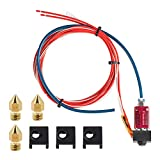 Creality Upgrade Parts Assembled Extruder Hotend with Capricorn Bowden PTFE Tubing with Silicone Cover×3 and 0.4mm Nozzle×3 for Creality Ender 3 V2 Ender 3 Ender 3 pro 3D Printer, Not for Ender 5