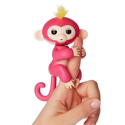 WowWee 3705 Fingerlings Rosa Bella, Mini Scimmietta Robotica Interattiva
