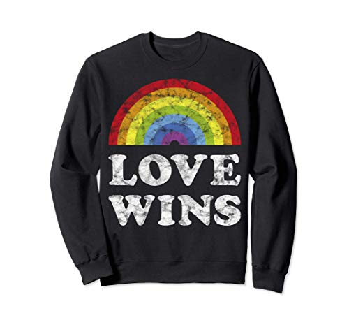 Orgullo Gay Rainbow Love Wins LGBTQ CSD Gay Bandera Sudadera