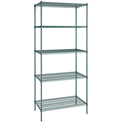 24 inch x 42 Green Epoxy 5 Time sale Shelf St Max 59% OFF Kit 96 Posts. with