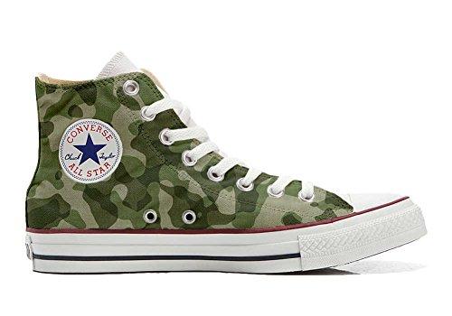 Scarpe Sneakers Personalizzate (Uomo/Donna) Originali Hi Canvas, Sneaker Unisex (Prodotto Artigianale) Mimetiche Size 40 EU